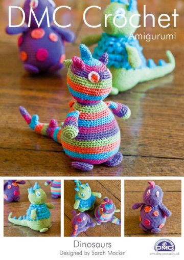 DMC Crochet TOY Pattern. Dinosaurs.